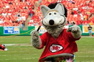 Kansas City Chiefs mascot KC Wolf