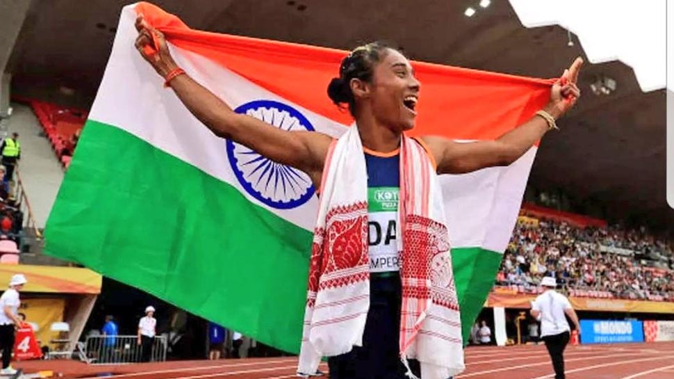 Image result for हिमा दास को गोल्ड