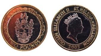 St Helena 2 Pound coin