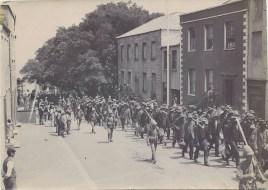 Boer prisoners marching in Jamestown
