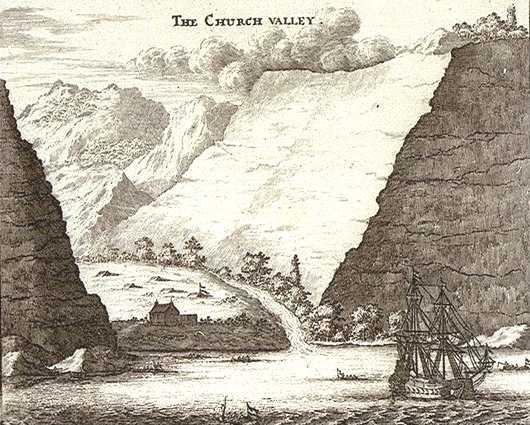 Church Valley in 1658 by Johan Nieuhof