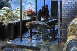 Washing flax .1961, St Helena Island