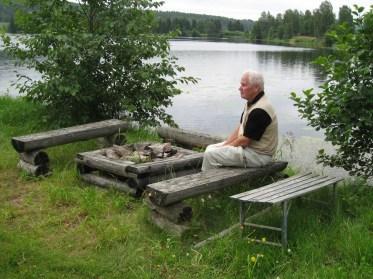 Välbehövlig paus vid Stig i Väsbys grillplats