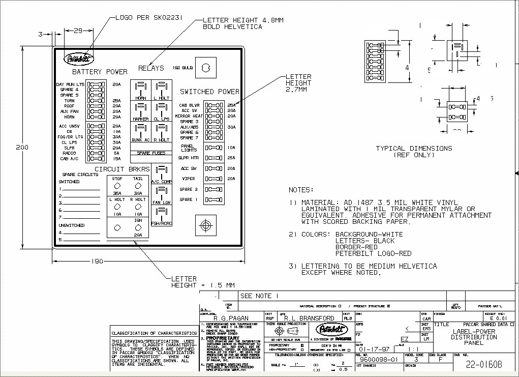 2000 kenworth w900 fuse diagram wiring diagram Kenworth T600 Fuse Panel Diagram For Wiring kenworth t600 fuse diagram number one