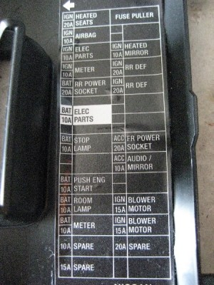 2007 Nissan Altima Fuse Box | Fuse Box And Wiring Diagram