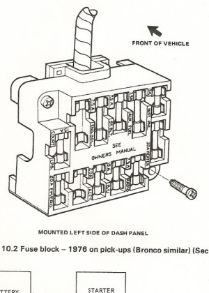 1978 Ford F 150 Fuse Box Diagram | Fuse Box And Wiring Diagram