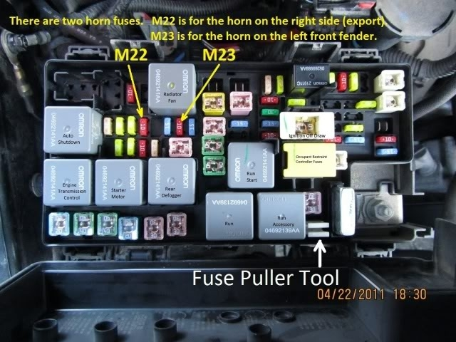help trouble shooting horn not working throughout 2010 jeep patriot fuse box diagram 2011 jeep patriot fuse box wiring diagram byblank 2015 jeep patriot wiring harness at readyjetset.co