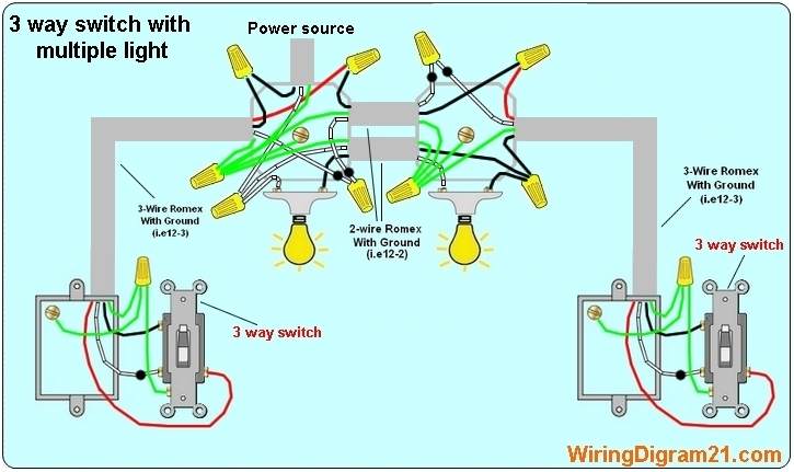 How To Wire A 3 Way Switch Diagram