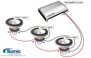 4 Ohm Dual Voice Coil Subwoofer Wiring Diagram | Fuse Box