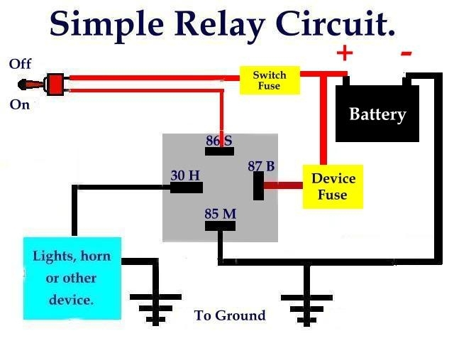 5 Pin Relay Wiring Diagram Spotlights On 5 Download For Wiring ...