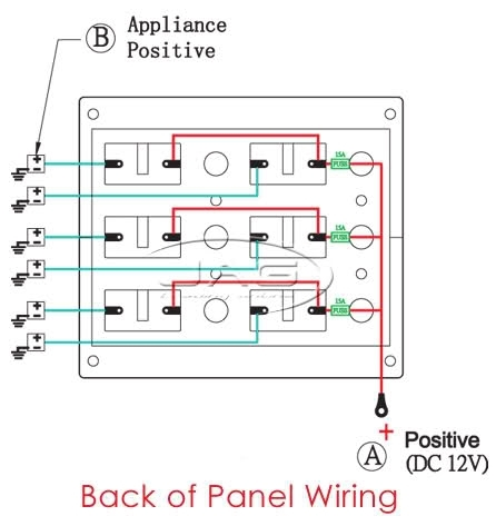 Switch Panel Wiring Diagram 12v Periodic Diagrams Science