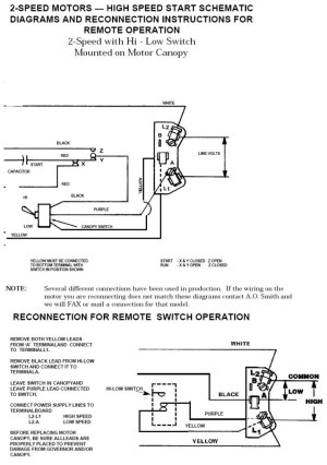 Ao Smith 2 Speed Motor Wiring Diagram | Fuse Box And