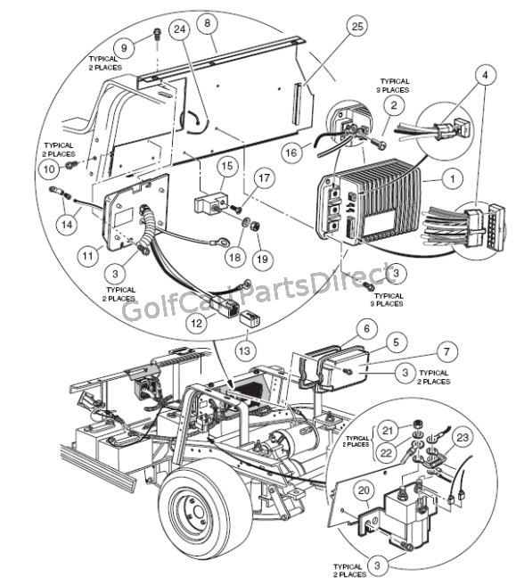 Diagram 1994 Club Car 48 Volt Battery Wiring Diagram Diagram