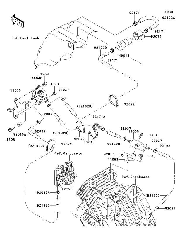 kawasaki fe290 engine diagram
