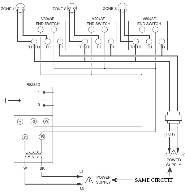 hydronic zone valve wiring diagram for honeywell wiring diagrams rh o d l co Robertshaw SP715A Troubleshooting White Rodgers Thermostat Wiring Diagram