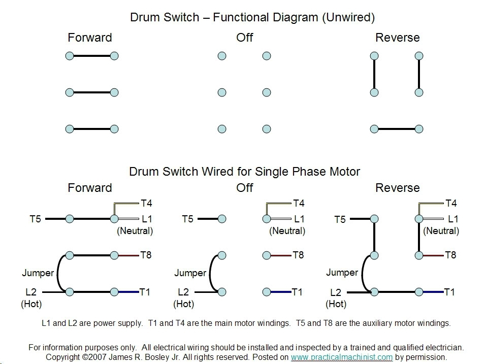 Single Phase Motor With Capacitor Forward And Reverse
