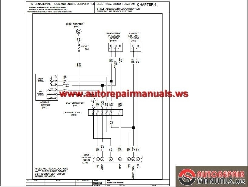 International 9400i Truck Wiring Diagram - wiring diagrams schematics