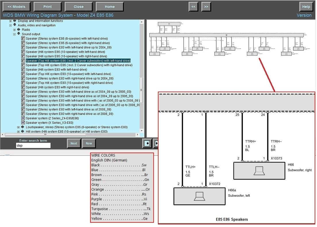 Bmw E39 Wiring Diagram For Installation On A Subwoofer Ews