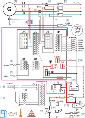 Ac Electrical Wiring Diagrams Generator | Fuse Box And Wiring Diagram