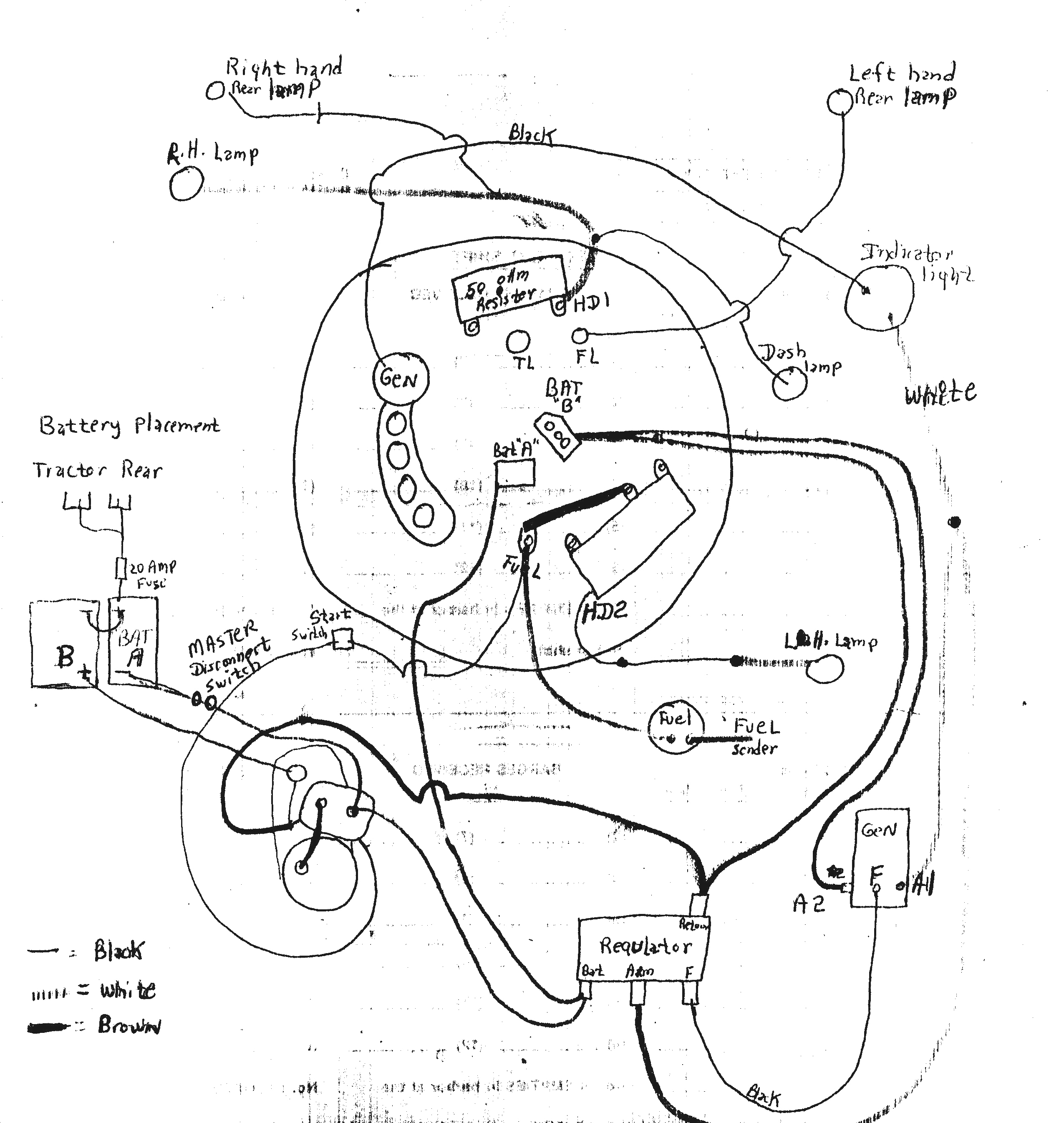 12v wiring diagram ford 8n