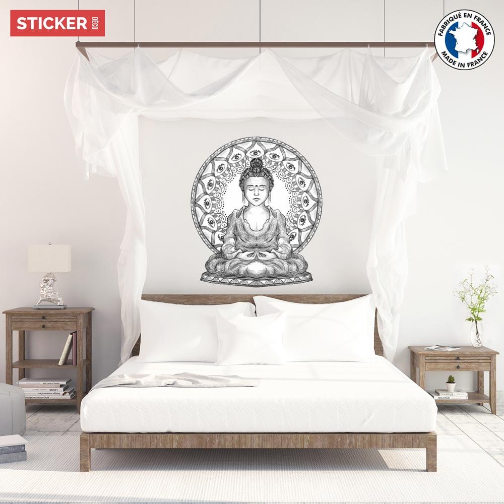 Sticker Zen Bouddha Eyes Stickers Orientaux Stickerdeco Fr