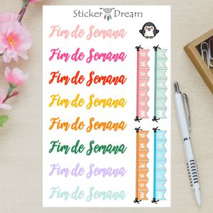 Sticker Dream - Cartela Weekend Banner