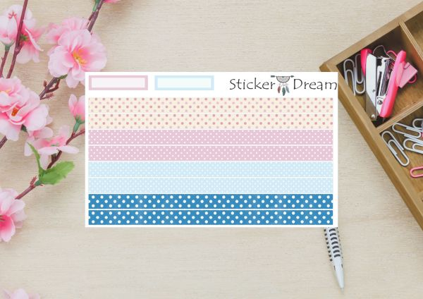 Sticker Dream - Whasi Strip Pink and Blue