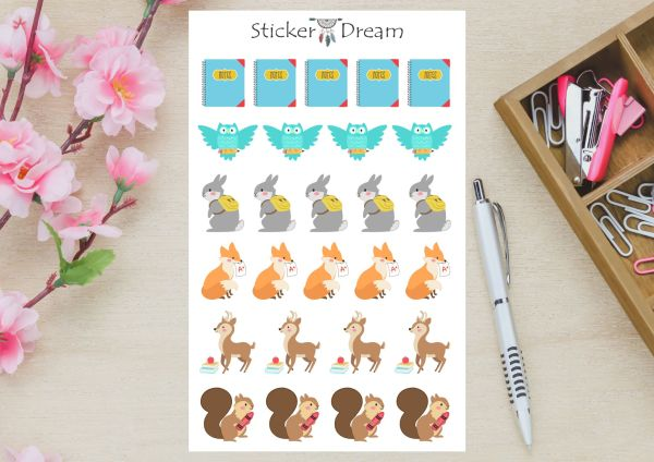 Sticker Dream - Cartela Hora de Estudar