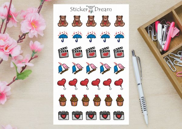 Sticker Dream - Cartela Lovely