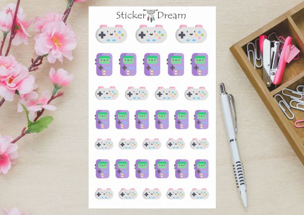 Sticker Dream - Cartela Video Game