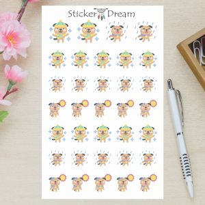 Sticker Dream - Cartela Doggy Tempo