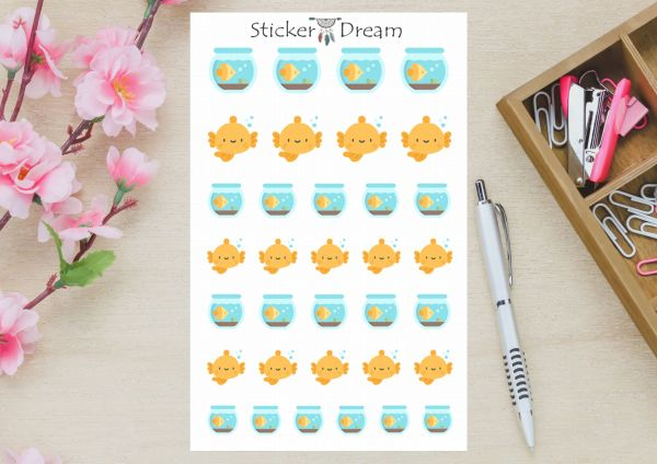 Sticker Dream - Cartela Peixe
