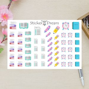Sticker Dream - Cartela Super Vamos Estudar