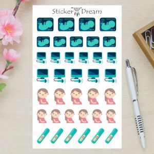 Sticker Dream - Cartela Gravidez