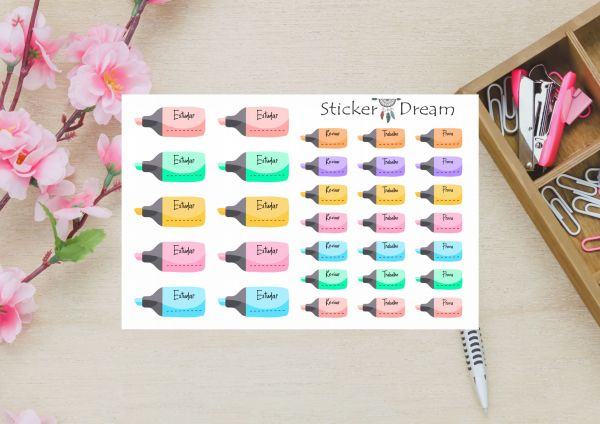 Sticker Dream - Cartela Super Dia de Estudar