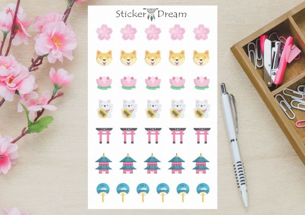 Sticker Dream - Cartela Japão
