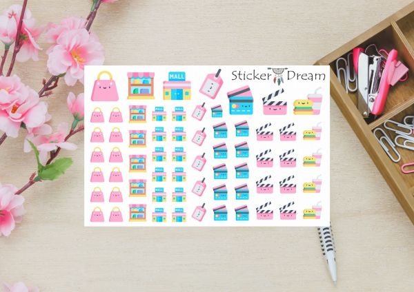 Sticker Dream - Cartela Super Shopping