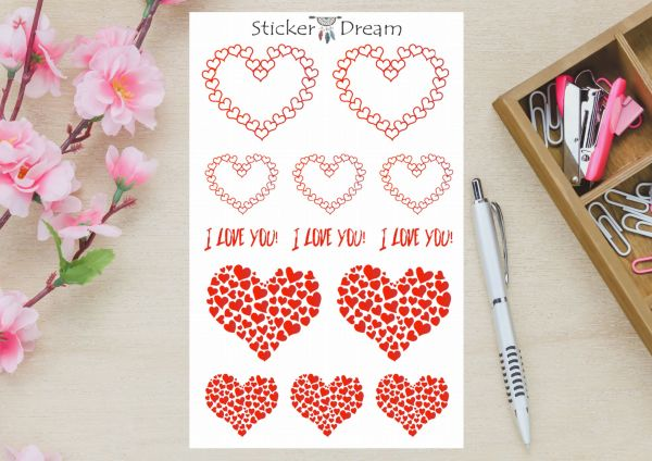 Sticker Dream - Cartela I Love You