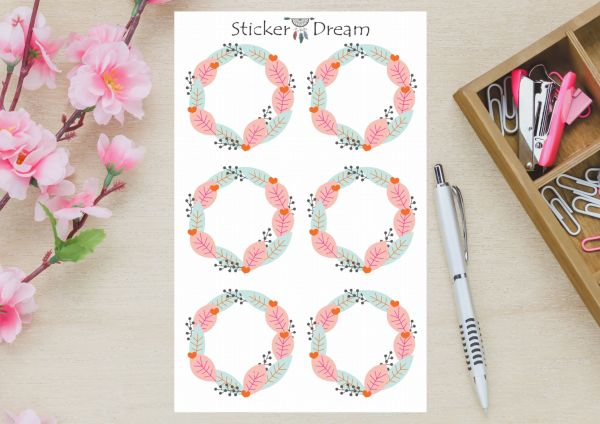 Sticker Dream - Cartela Folhagem Lovely