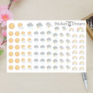 Sticker Dream - Cartela Super Clima e Tempo