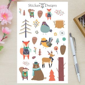 Sticker Dream - Cartela Animais da Floresta
