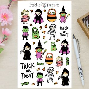 Sticker Dream - Cartela Trick or Treat
