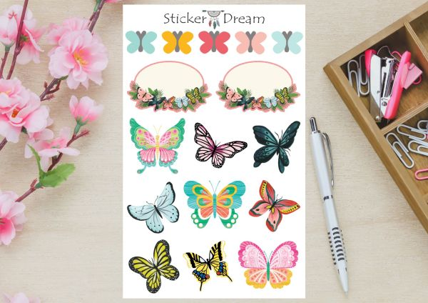 Sticker Dream - Cartela Butterfly