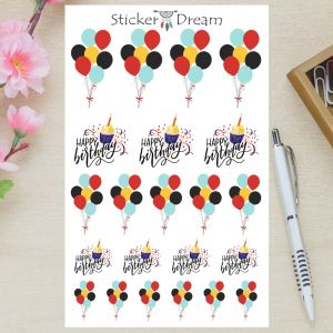 Sticker Dream - Cartela Happy BDAY