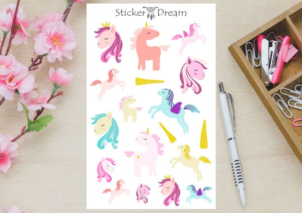 Sticker Dream - Cartela Unicórnios Mágicos