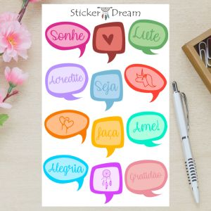 Sticker Dream - Cartela Empodere-se
