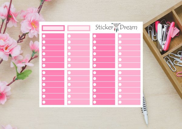Sticker Dream - Full Box My Planner 2020 Rosa