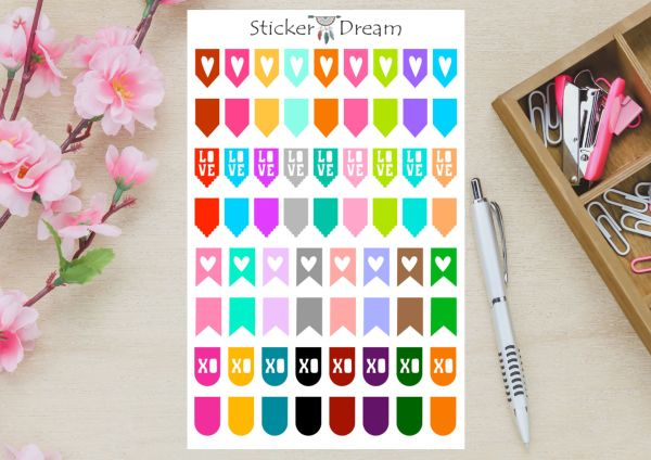 Sticker Dream - Cartela Flags Coloridas