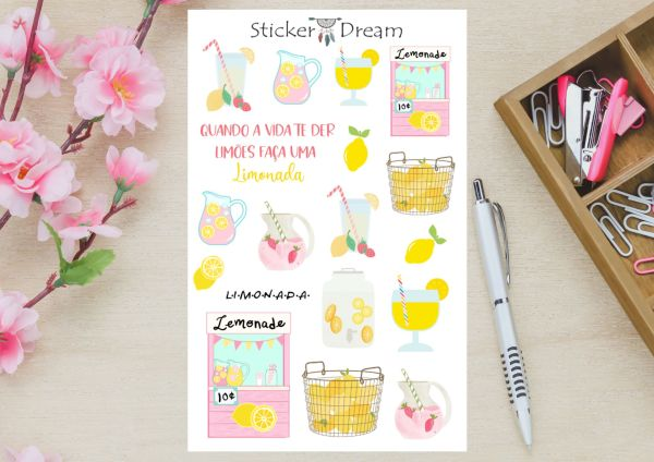 Sticker Dream - Cartela Limonada