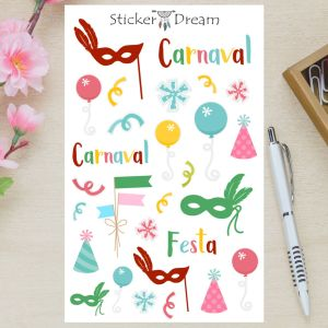Sticker Dream - Cartela Festa de Carnaval